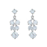 Classic Crystal Dangle Earrings (Silver)