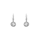 Rhinestone and Crystal Vintage Style Drop Earrings (Crystal Silver)