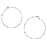 Hypoallergenic Crystal Rhinestone Hoop Post Back Earrings