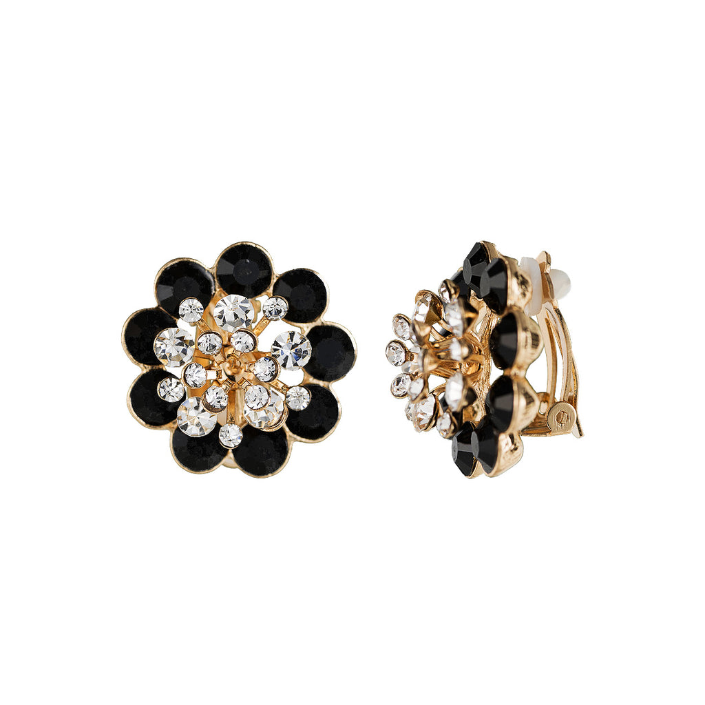 Stunning Statement Crystal Rhinestone Clip On Earrings Gift