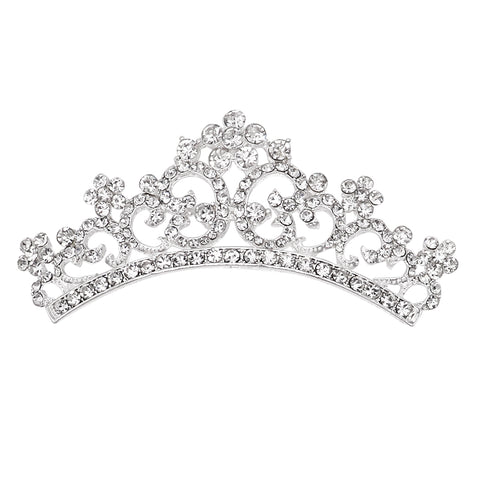 Crystal Princess Crown Brooch Pin