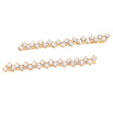 Hair Clip Sparkling Crystal Bobby Pins (Gold Tone/Clear)