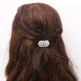 Silver Tone Round Crystal Embellished Ponytail Holder (Small)
