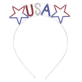 USA Stars Patriotic Tiara Headband