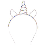 Rosemarie Collections Rainbow Unicorn Horn Headband Tiara Halloween Costume