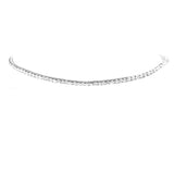 Single Strand Crystal Ankle Bracelet (Silver)