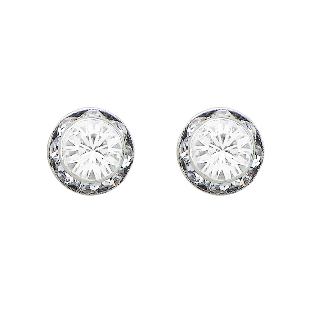 Birthstone Birth Month Swarovski Crystal Stud Earrings (April)
