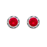 Birthstone Birth Month Swarovski Crystal Stud Earrings (July)