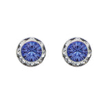 Birthstone Birth Month Swarovski Crystal Stud Earrings (September)