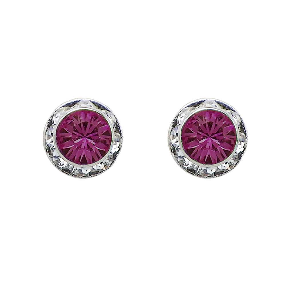 new specials cheap sale how to purchase Birthstone Birth Month Swarovski Crystal Stud Earrings (February)