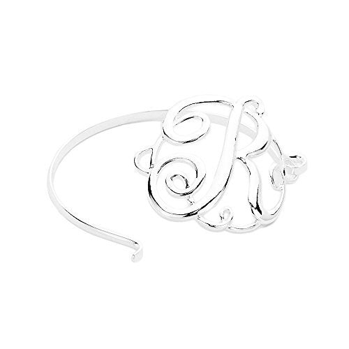 Monogram R Hook Bangle Bracelet