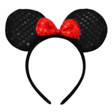 Fun Fashion Comfort Fit Statement Mouse Ears Headband (Red)