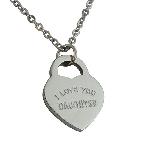 Heart Pendant Necklace I Love You Daughter