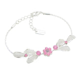 Floral Statement Soft Pastel Pink Necklace Bracelet Earring Jewelry Set 17