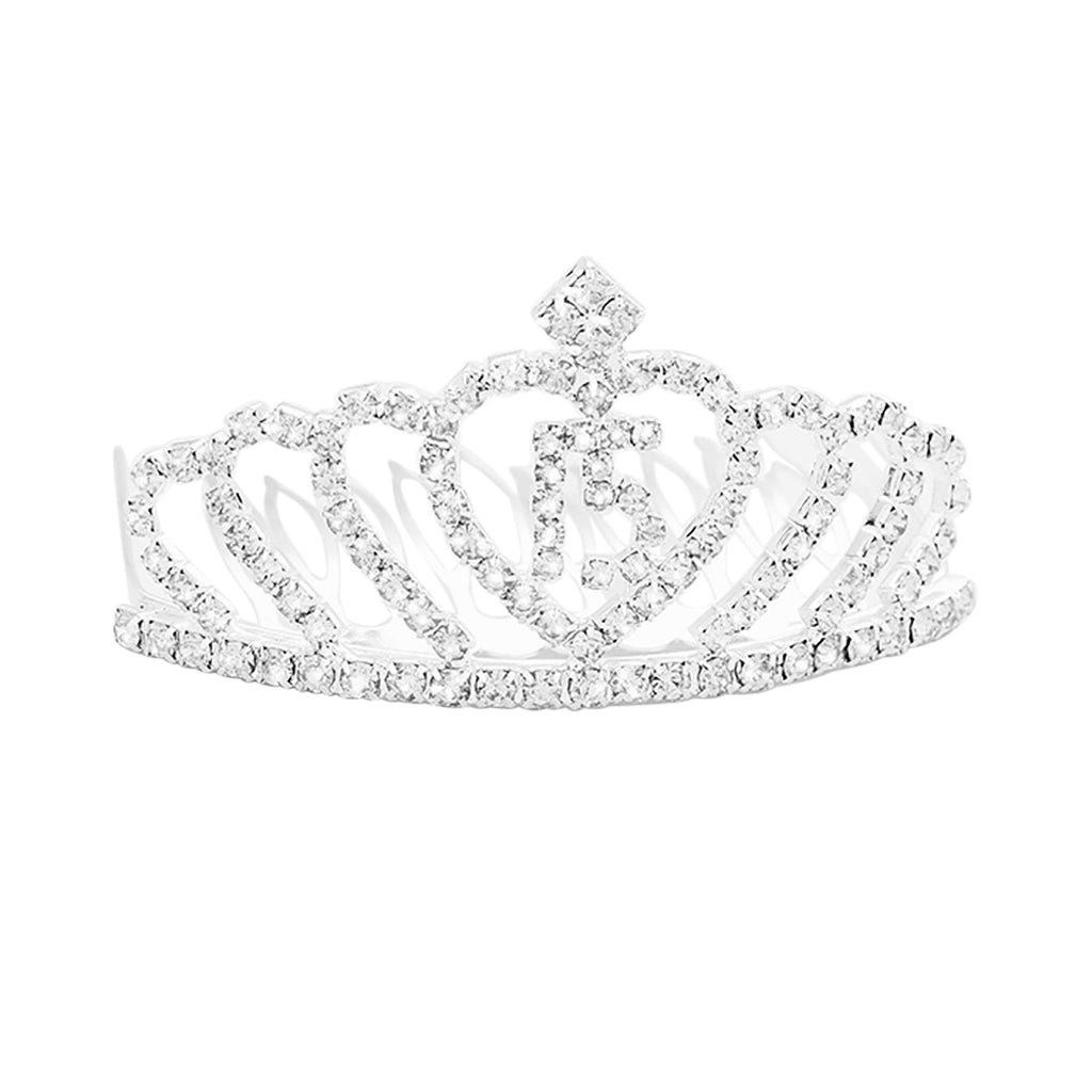 Crystal rhinestone 15th birthday quinceanera mini princess tiara rosemarie collections