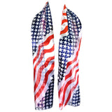 Beautiful American Flag Patriotic Fashion Scarf 4th of July