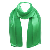 St. Patrick's Day Irish Clover Silky Stripe Lightweight Fashion Scarf