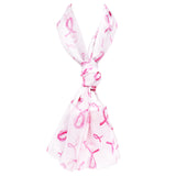 Women's White and Pink Ribbon Breast Cancer Awareness Beautiful Lightweight Fashion Scarf