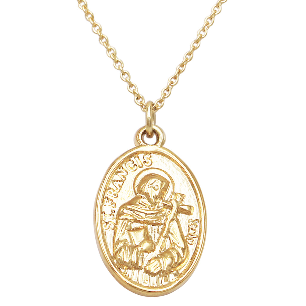 14kt Yellow Gold Blessed Bar And Dangle Cross Adj Necklace