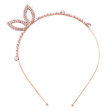Rosemarie & Jubalee Fun Fashion Rose Gold Crystal Bunny Ears Headband Tiara Halloween Costume