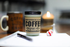 Peppermint Mocha Coffee Soy Candle