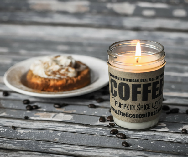 Pumpkin Spice Latte Coffee Soy Candle