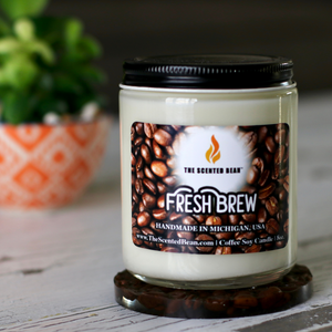 Fresh Brew Coffee Soy Candle (Jar)