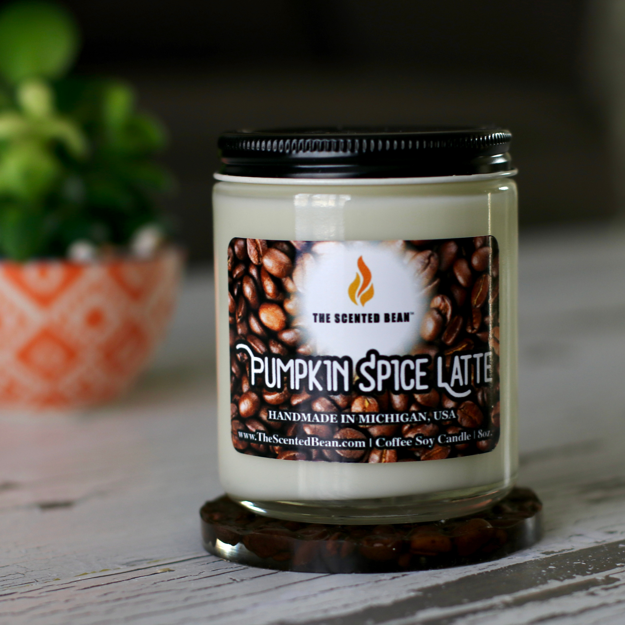 Pumpkin Spice Latte Coffee Soy Candle (Jar)