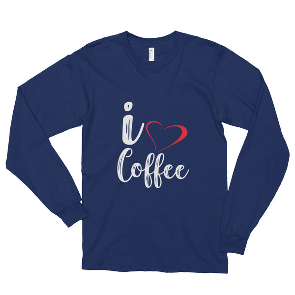 I ♥ Coffee Long sleeve t-shirt (unisex)