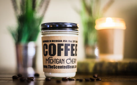 Michigan Cherry Coffee Soy Candle