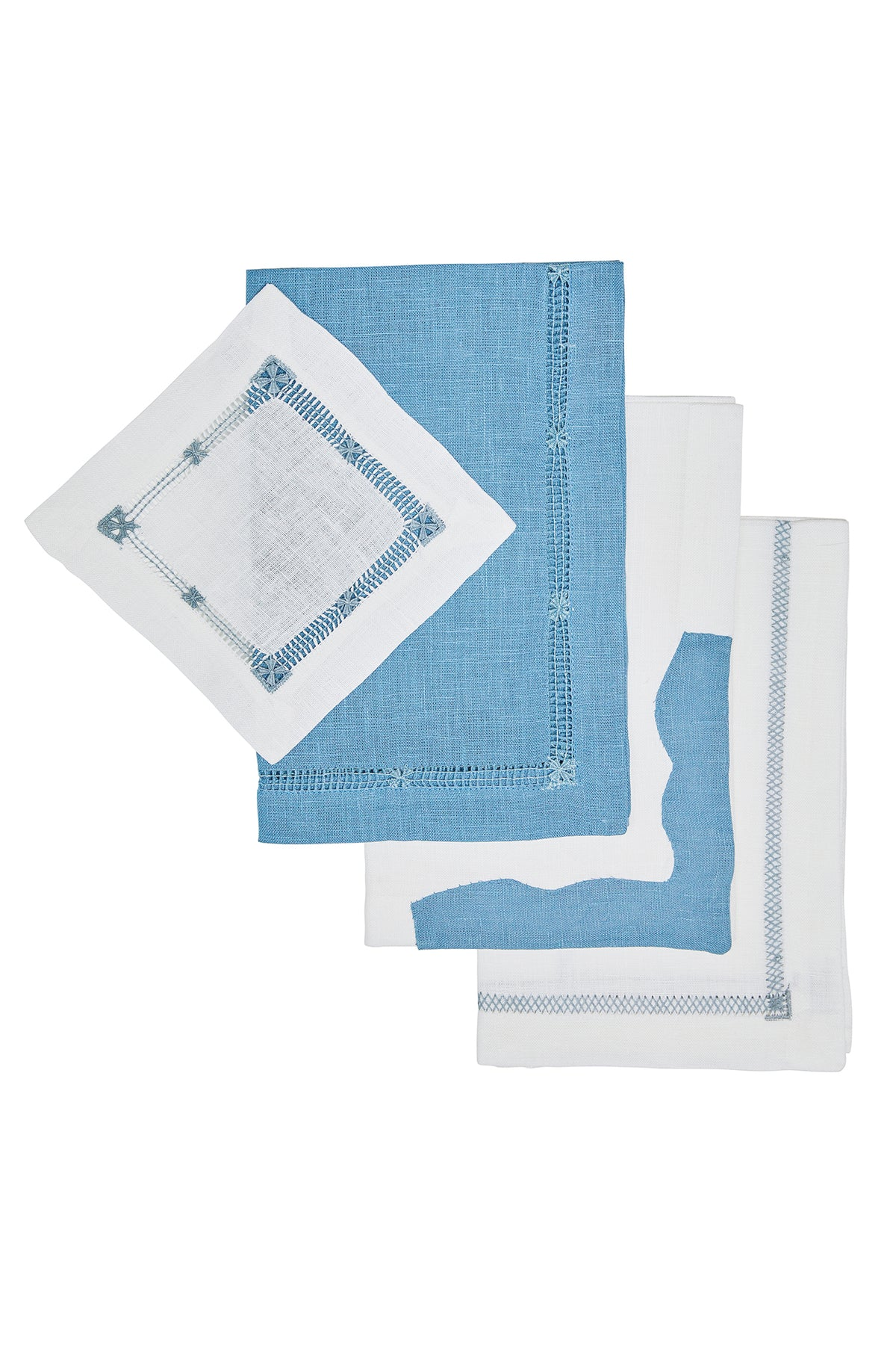 Ocean Blue Linen ~ Cocktail and Dinner Napkin