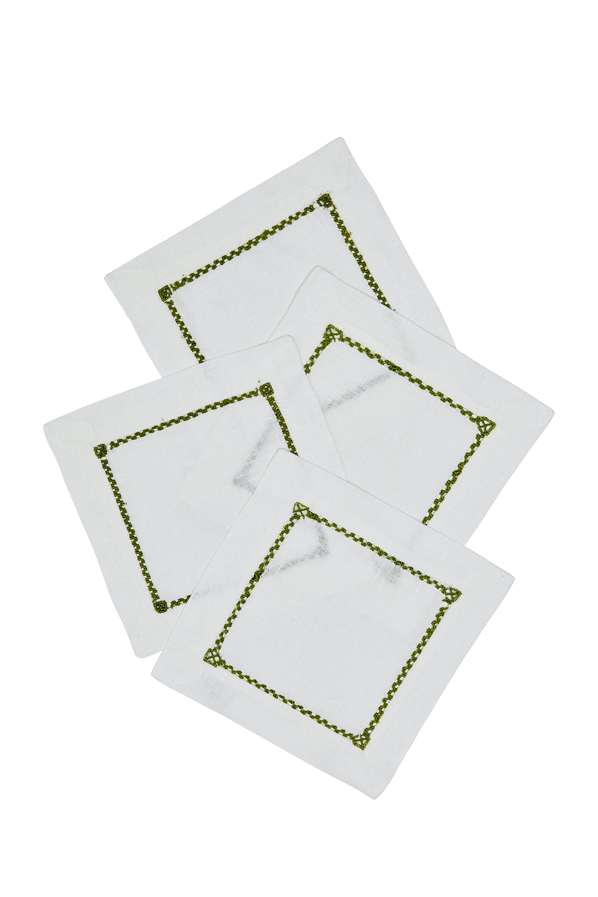 Open Hemstitch Cocktail Napkin