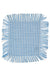 Picnic Collection: Blue Gingham Fringe Cocktail Napkin
