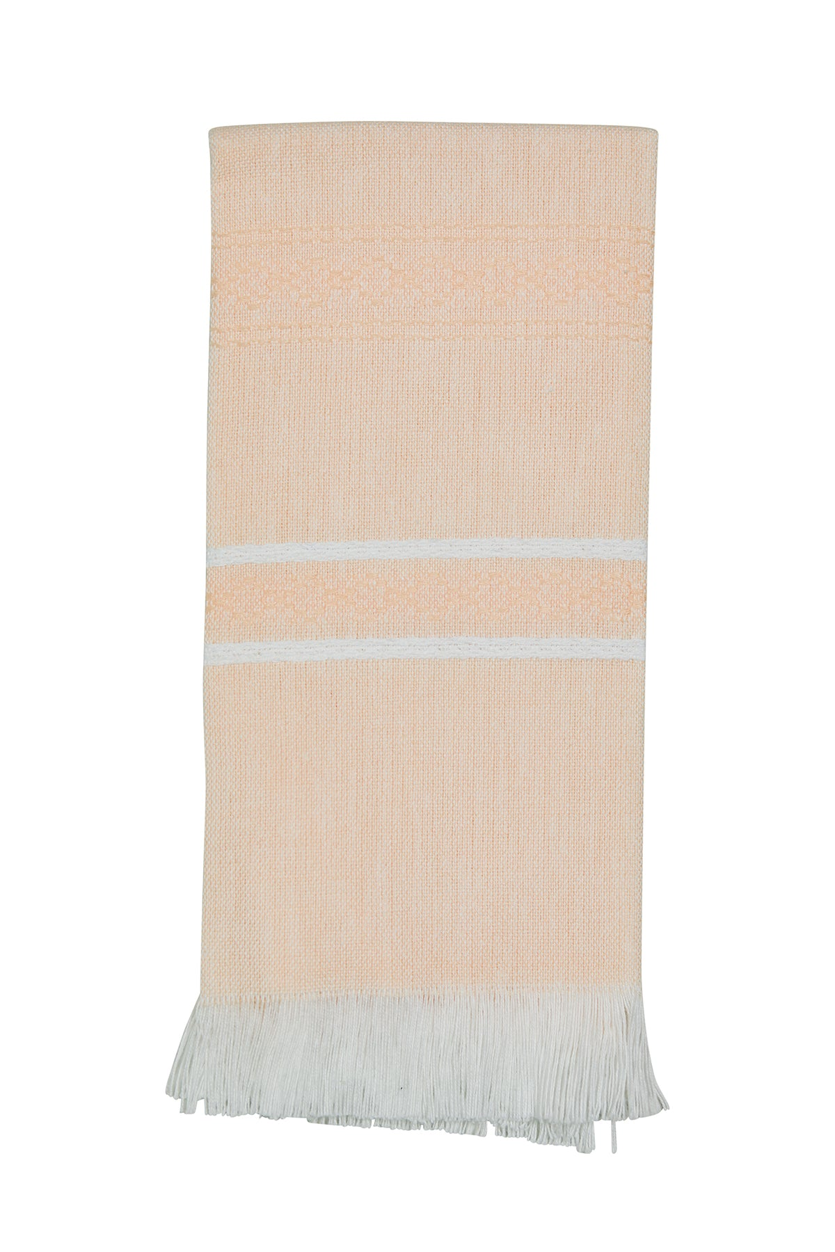 All Cotton Hand Woven Towel ~ Peach