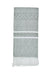 All Cotton Hand Woven Towel ~ Gray