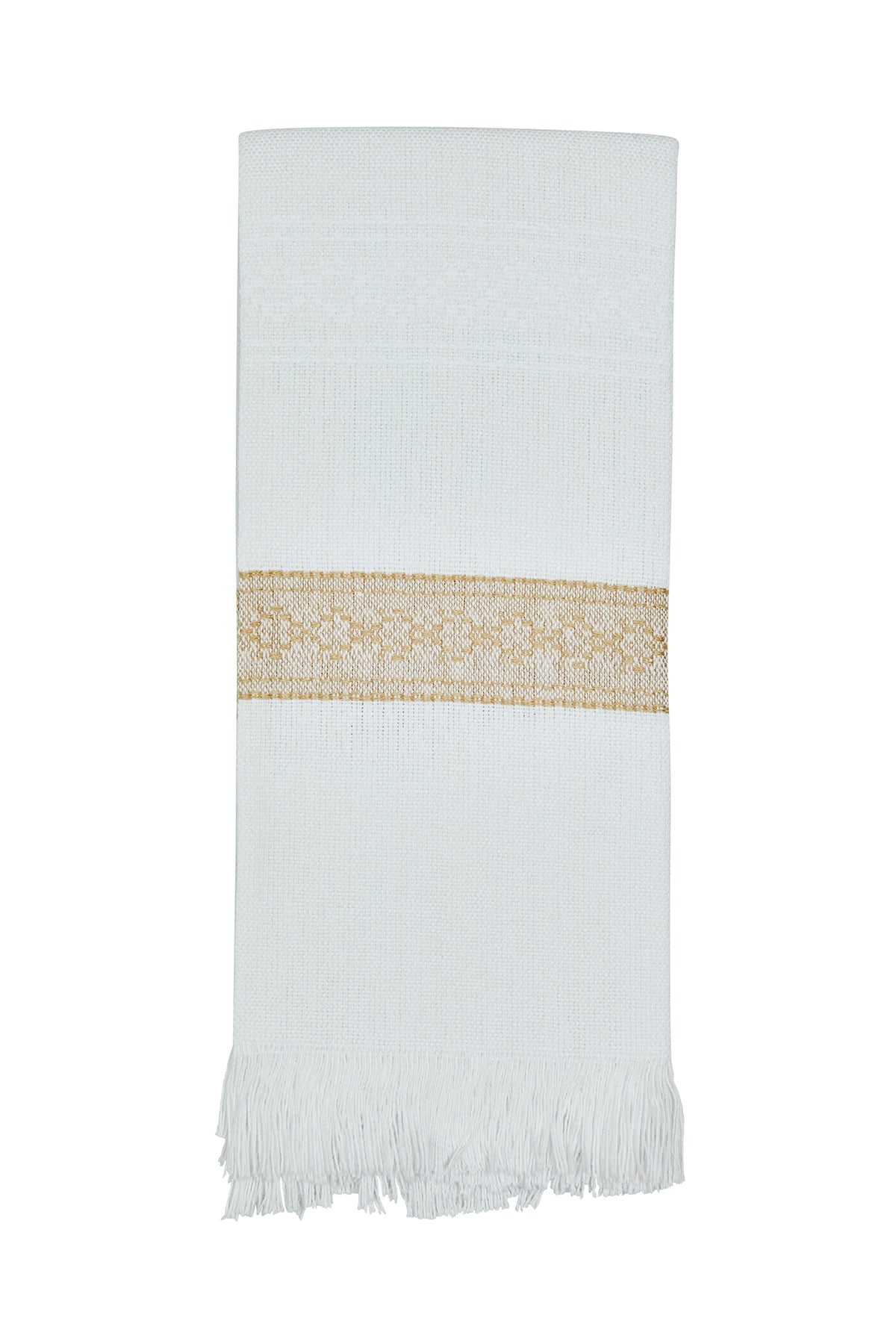 All Cotton Hand Woven Towel ~ Coastal Beige