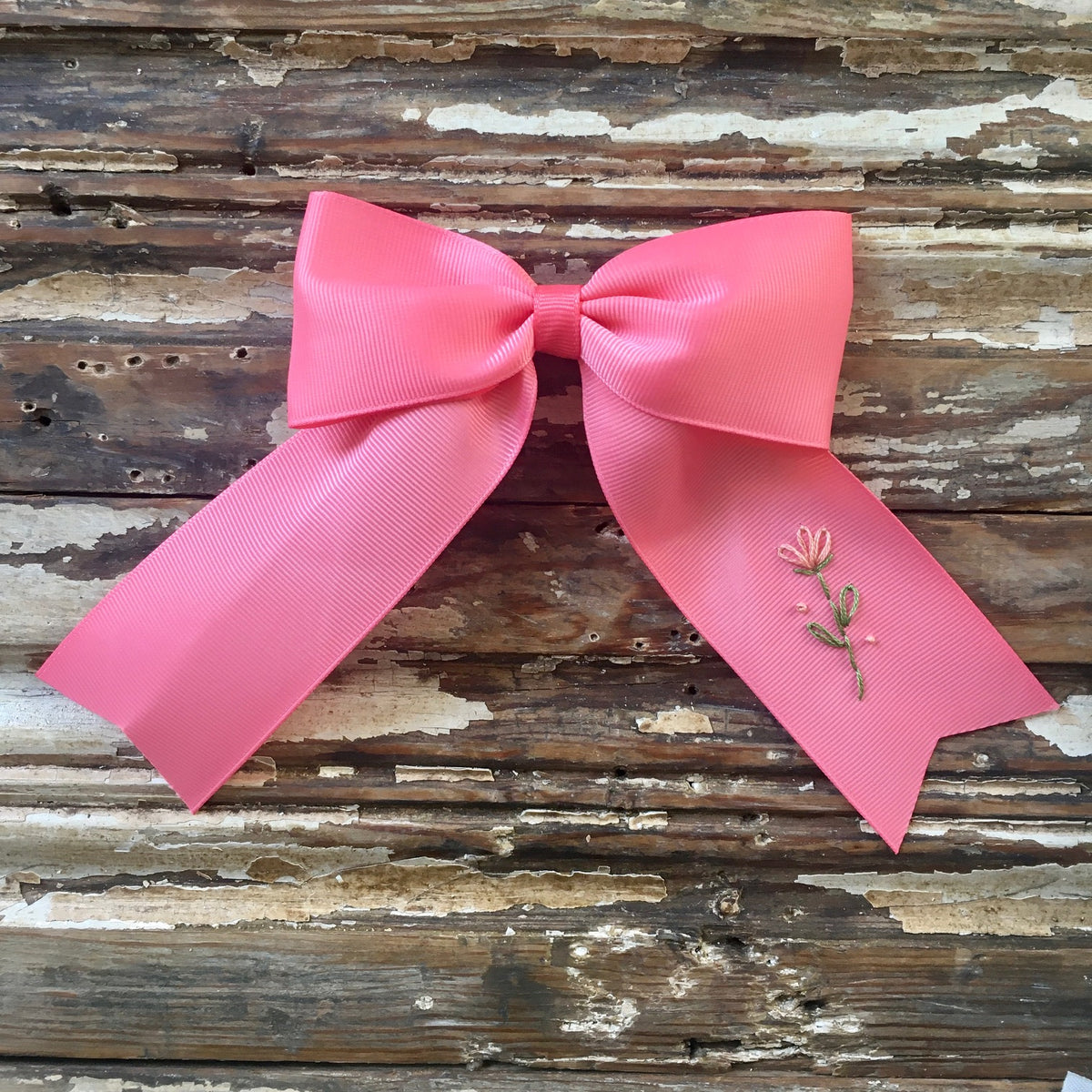 Coral Pink Bow