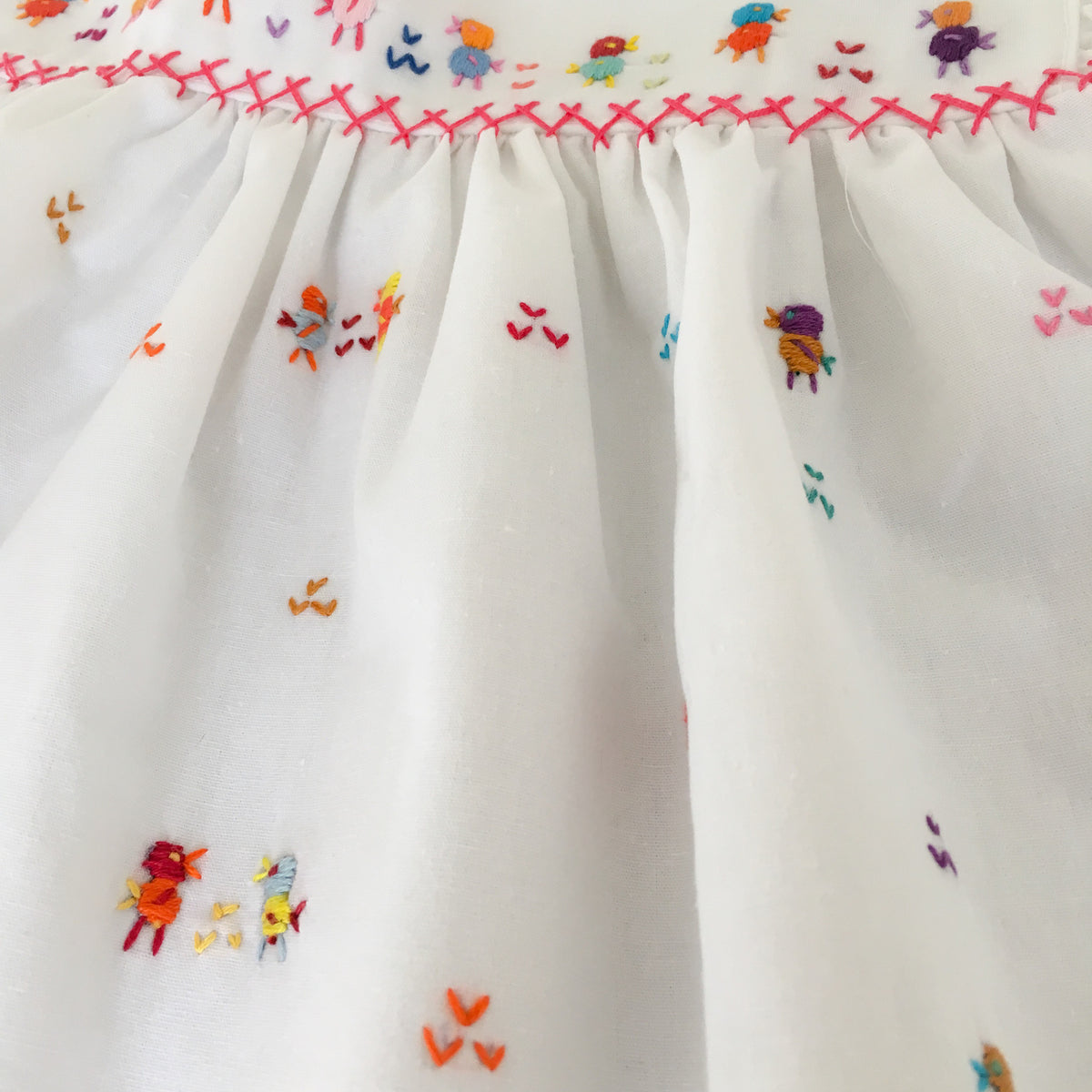 Hand Embroidered Chicken Dress