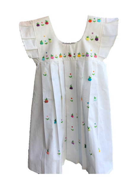 Hand Embroidered Apples Dress
