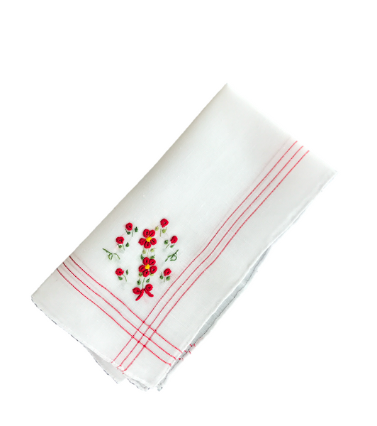 Colorful Handkerchief Collection: Crimson