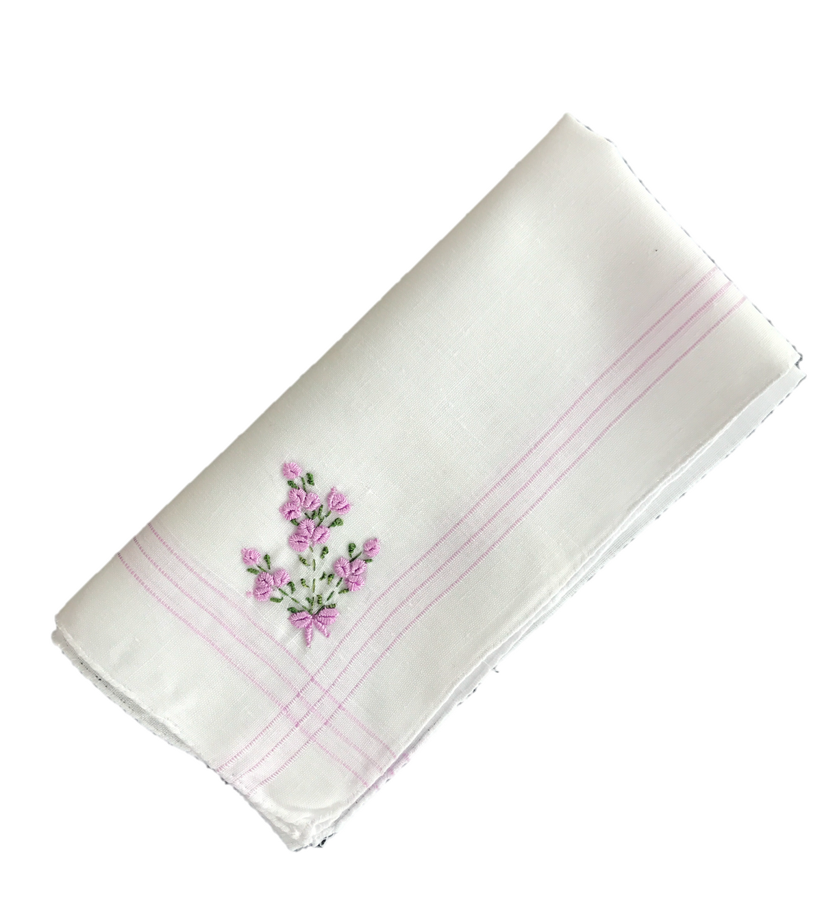 Colorful Handkerchief Collection: Lilac with Flowers