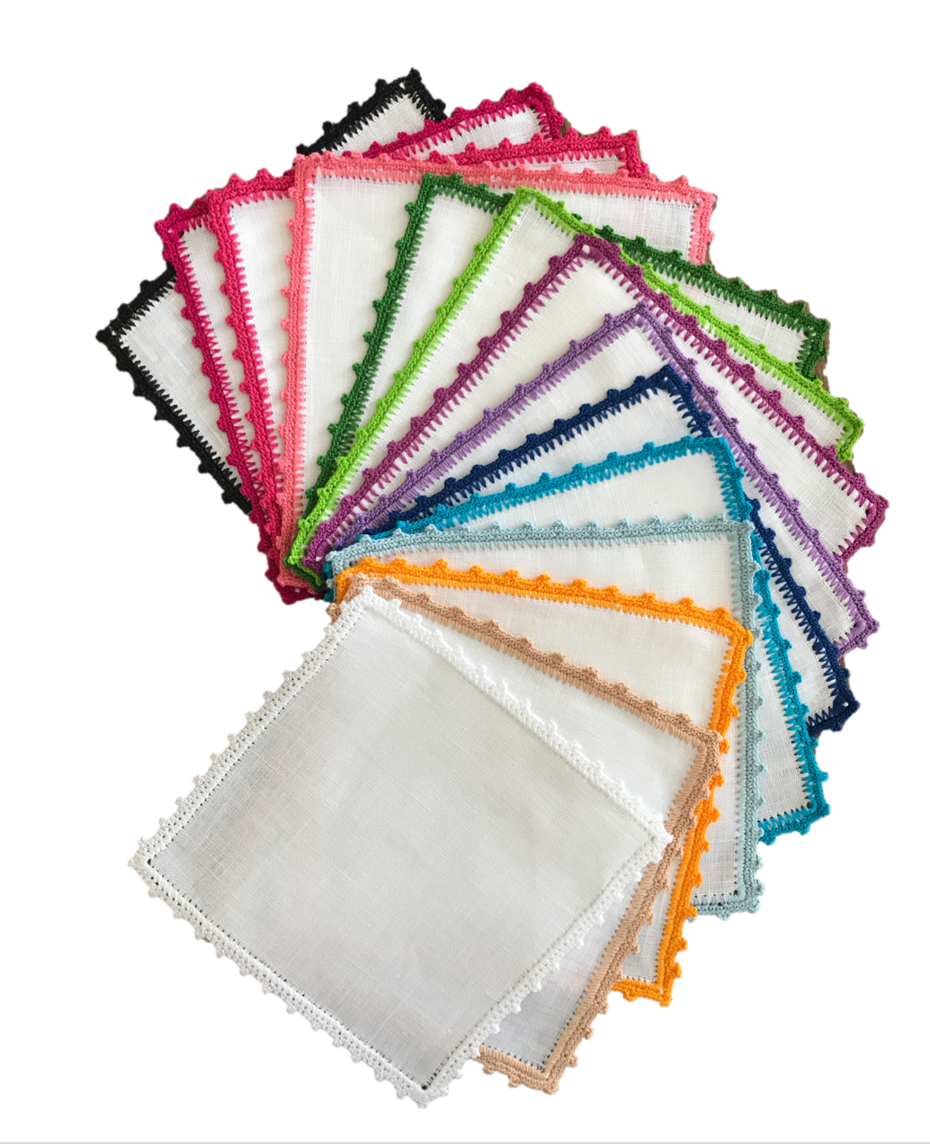 Bella Crochet Edge Cocktail Napkins