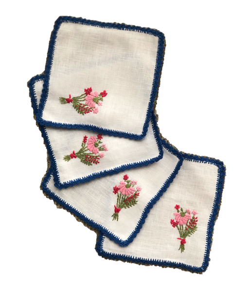 Bouquet Cocktail Napkins Set of 4