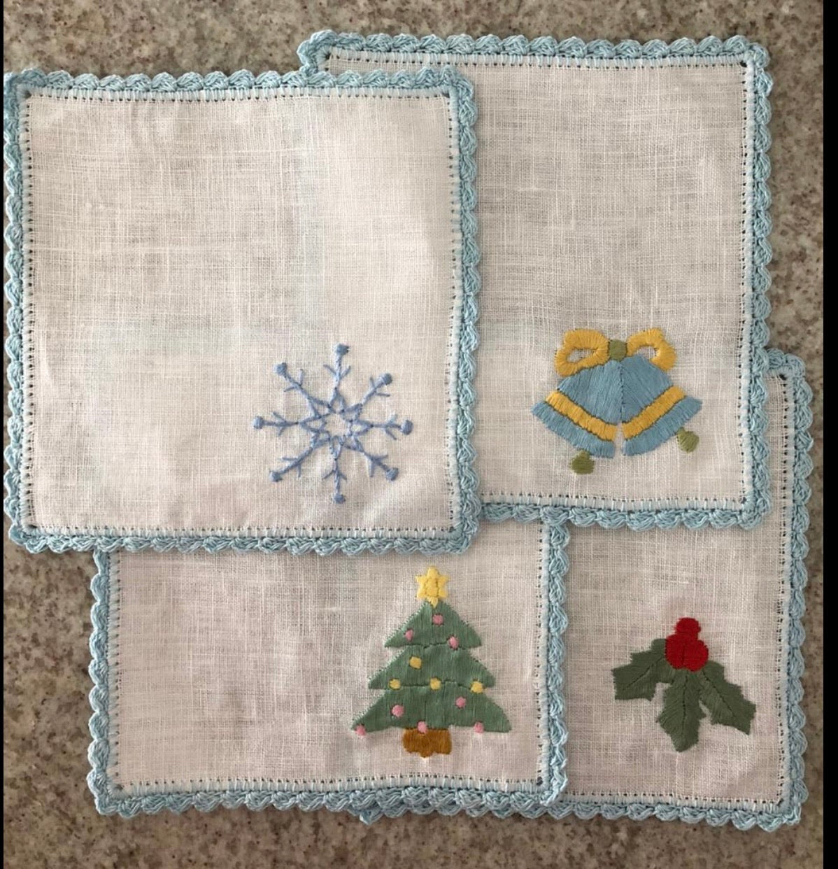 Holiday Cocktail Napkins ~ Set of 4