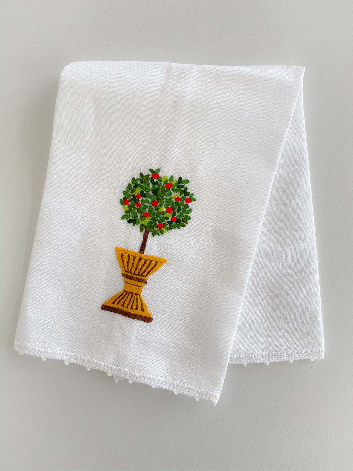 Apple Topiary Hand Towel