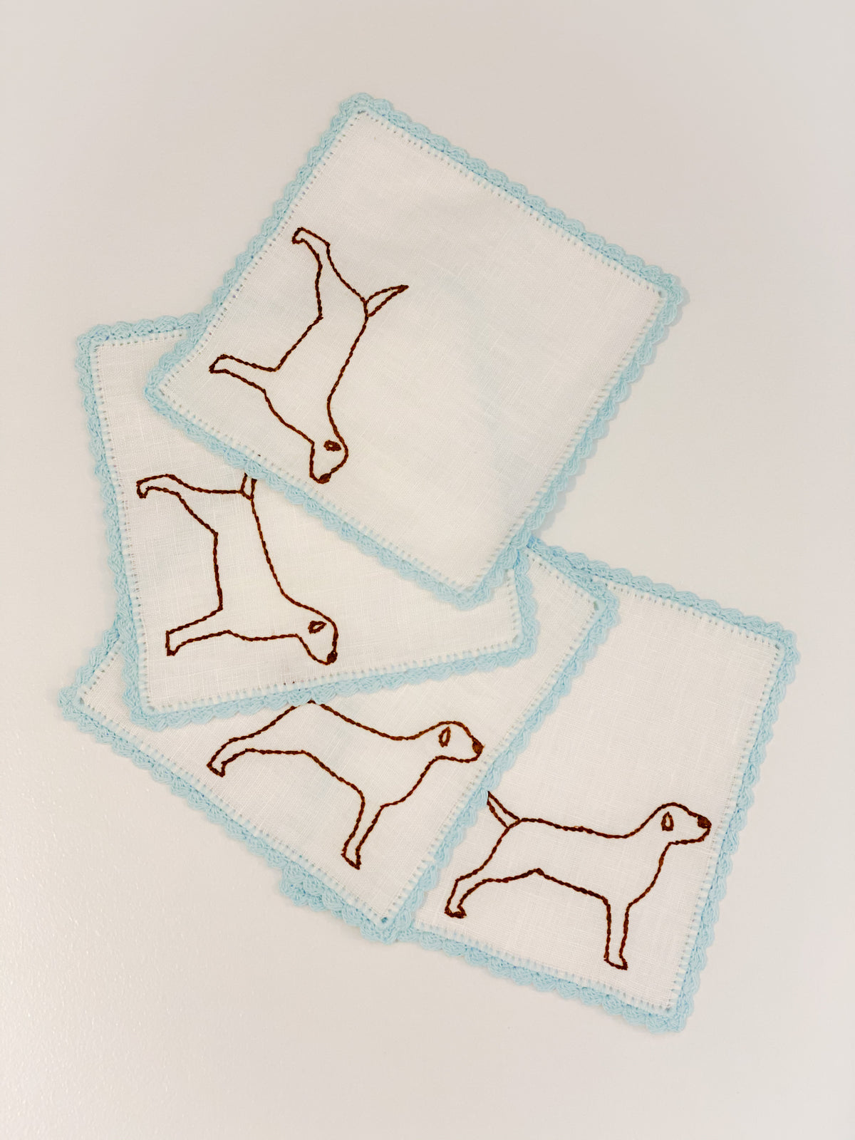 Puppy Cocktail Napkins ~ Set of 4