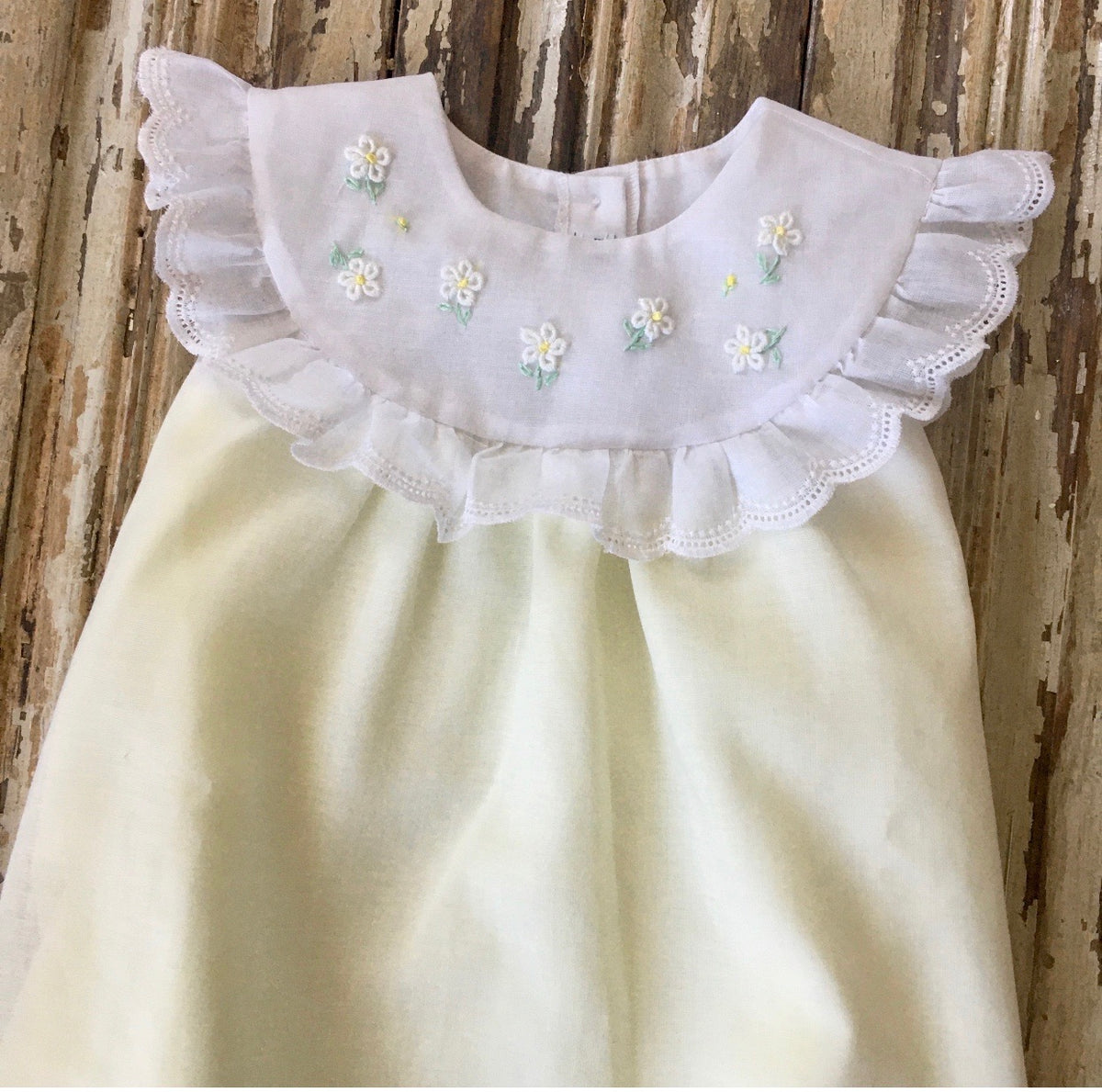 Bib Daisy Dye Soft Yellow Dress