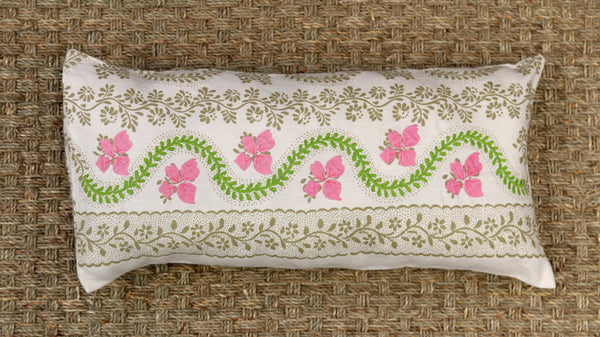 Pink Bunch Lumbar Pillow