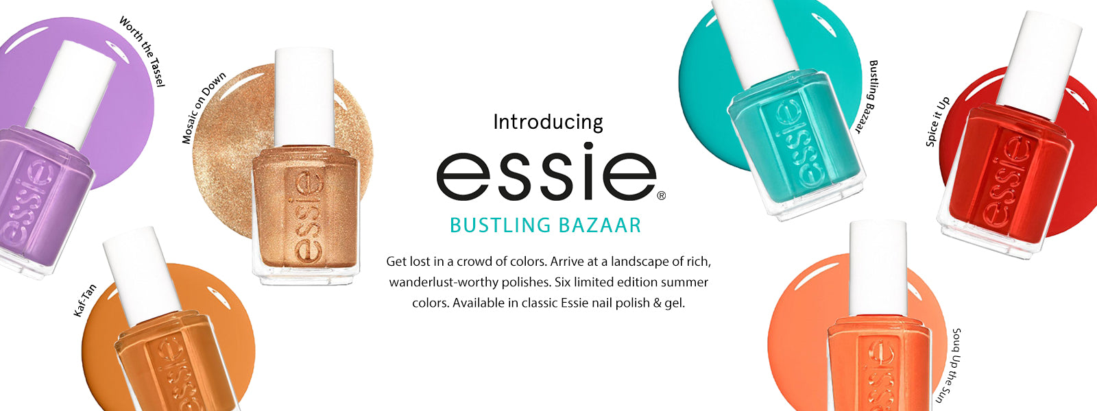 Essie Summer 2020 Bustling Bazaar Collection