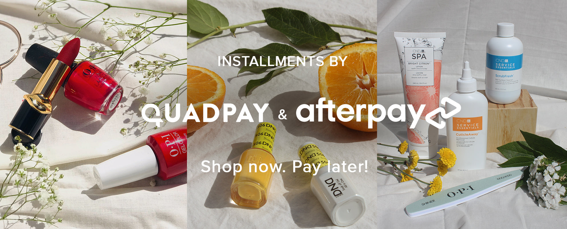 Shop Now Pay Later With Quadpay or Afterpay